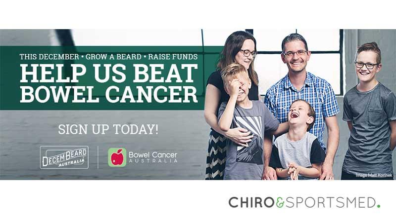 Decembeard For Bowel Cancer Australia Chiro Sports Med